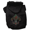 Mirage Pet Products Holiday Fleur de lis Hoodies Black XS (8)