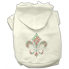 Mirage Pet Products Holiday Fleur de lis Hoodies Cream XS (8)