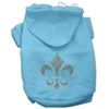 Mirage Pet Products Holiday Fleur de lis Hoodies Baby Blue XXXL(20)