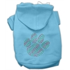 Mirage Pet Products Holiday Paw Hoodies Baby Blue XS (8)