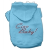 Mirage Pet Products Ciao Baby Hoodies Baby Blue XXXL(20)