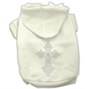 Mirage Pet Products Rhinestone Cross Hoodies Cream XXXL(20)