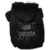 Mirage Pet Products Cutie Patootie Rhinestone Hoodies Black L (14)