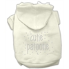 Mirage Pet Products Cutie Patootie Rhinestone Hoodies Cream XXXL(20)