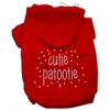Mirage Pet Products Cutie Patootie Rhinestone Hoodies Red S (10)