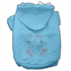 Mirage Pet Products Bunny Rhinestone Hoodies Baby Blue XXXL(20)