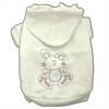 Mirage Pet Products Bunny Rhinestone Hoodies Cream S (10)
