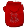 Mirage Pet Products Bunny Rhinestone Hoodies Red XS (8)