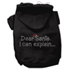 Mirage Pet Products Dear Santa I Can Explain Hoodies Black XXL (18)