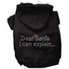 Mirage Pet Products Dear Santa I Can Explain Hoodies Black XS (8)