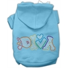 Mirage Pet Products Technicolor Diva Rhinestone Pet Hoodie Baby Blue Sm (10)