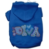 Mirage Pet Products Technicolor Diva Rhinestone Pet Hoodie Blue Med (12)