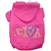 Mirage Pet Products Technicolor Diva Rhinestone Pet Hoodie Bright Pink XXXL (20)