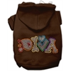 Mirage Pet Products Technicolor Diva Rhinestone Pet Hoodie Brown Lg (14)