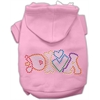 Mirage Pet Products Technicolor Diva Rhinestone Pet Hoodie Light Pink XS (8)