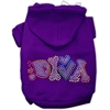 Mirage Pet Products Technicolor Diva Rhinestone Pet Hoodie Purple Lg (14)