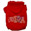 Mirage Pet Products Technicolor Diva Rhinestone Pet Hoodie Red Sm (10)