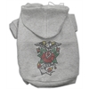Mirage Pet Products Eagle Rose Nailhead Hoodies Grey XL (16)