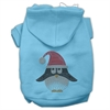 Mirage Pet Products Santa Penguin Rhinestone Hoodies Baby Blue XXXL(20)