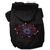 Mirage Pet Products Fireworks Rhinestone Hoodie Black XL (16)