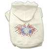 Mirage Pet Products Fireworks Rhinestone Hoodie Cream XXXL(20)