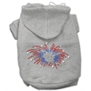 Mirage Pet Products Fireworks Rhinestone Hoodie Grey XXXL(20)