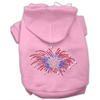 Mirage Pet Products Fireworks Rhinestone Hoodie Pink S (10)