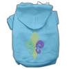 Mirage Pet Products Mardi Gras Fleur De Lis Rhinestone Hoodies Baby Blue XL (16)