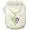 Mirage Pet Products Mardi Gras Fleur De Lis Rhinestone Hoodies Cream XS (8)