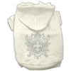 Mirage Pet Products Rhinestone Fleur De Lis Shield Hoodies Cream S (10)