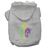 Mirage Pet Products Mardi Gras Fleur De Lis Rhinestone Hoodies Grey XXXL(20)