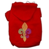 Mirage Pet Products Mardi Gras Fleur De Lis Rhinestone Hoodies Red XS (8)