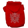 Mirage Pet Products Rhinestone Fleur De Lis Shield Hoodies Red S (10)