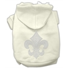Mirage Pet Products Fleur de lis Hoodies Cream S (10)