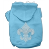 Mirage Pet Products Fleur de lis Hoodies Baby Blue XS (8)