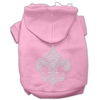 Mirage Pet Products Fleur de lis Hoodies Pink XS (8)