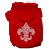 Mirage Pet Products Fleur de lis Hoodies Red XXL (18)