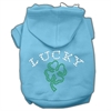 Mirage Pet Products Four Leaf Clover Outline Hoodies Baby Blue XXXL(20)