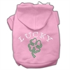 Mirage Pet Products Four Leaf Clover Outline Hoodies Pink S (10)