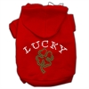 Mirage Pet Products Four Leaf Clover Outline Hoodies Red M (12)