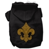 Mirage Pet Products Gold Fleur De Lis Hoodie Black XS (8)