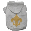 Mirage Pet Products Gold Fleur De Lis Hoodie Grey XXXL(20)