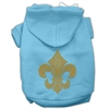 Mirage Pet Products Gold Fleur De Lis Hoodie Baby Blue XXXL(20)