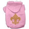 Mirage Pet Products Gold Fleur De Lis Hoodie Pink XXXL(20)