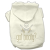 Mirage Pet Products Got Booty Rhinestone Hoodies Cream XS (8)