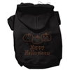 Mirage Pet Products Happy Halloween Rhinestone Hoodies Black L (14)