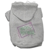 Mirage Pet Products Happy New Year Rhinestone Hoodies Grey XXXL (20)