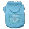 Mirage Pet Products Happy St. Patrick's Day Hoodies Baby Blue XXXL(20)