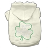 Mirage Pet Products Happy St. Patrick's Day Hoodies Cream XXXL(20)