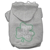 Mirage Pet Products Happy St. Patrick's Day Hoodies Grey XXXL(20)